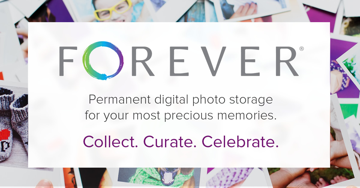 Forever photo storage ad.